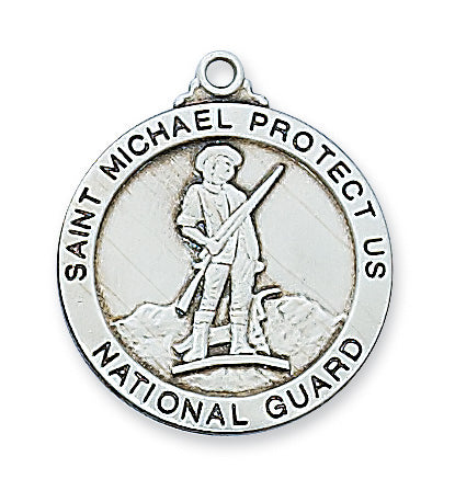 National Guard Medal - Sterling Silver