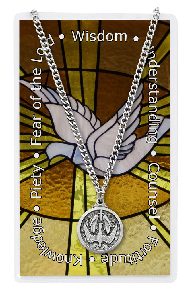 Necklace - Holy Spirit Pendant with Holy Card Bagged