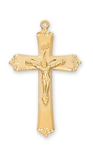 Crucifix Necklace - Gold over Sterling