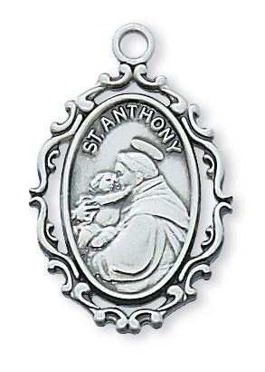 Anthony - St. Anthony Medal - Sterling Silver