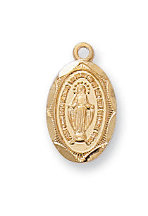 "Miraculous Medal for Babies on 13"" Chain"