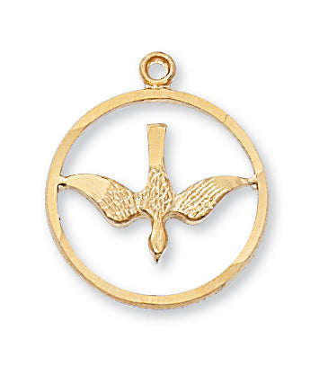 Holy Spirit Medal - Gold over Sterling