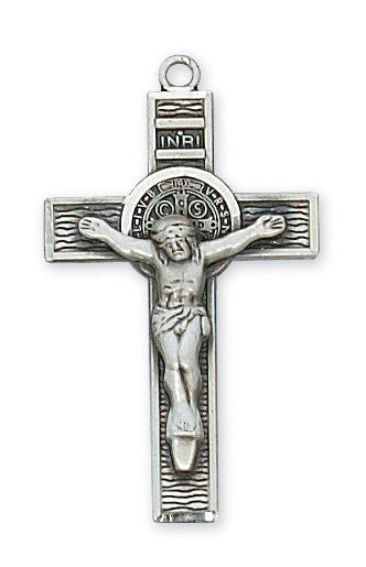 Benedict - St. Benedict Crucifix - Sterling Silver