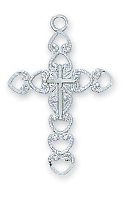 "Cross Necklace 18"" Chain"