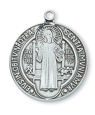 Benedict - St. Benedict Medal - Sterling Silver