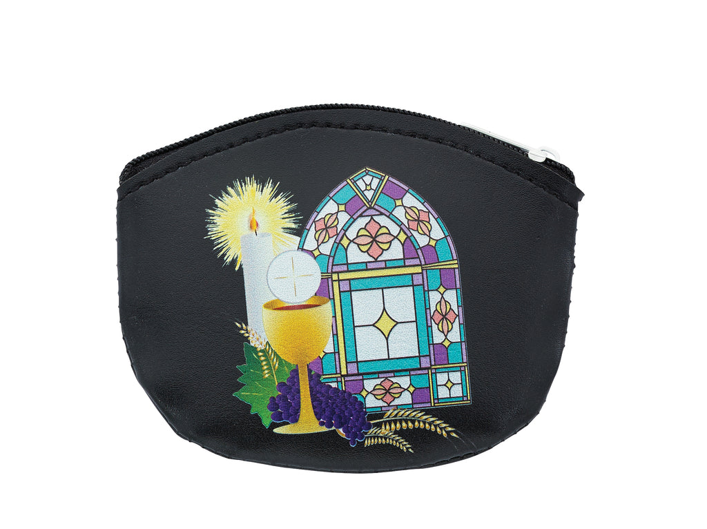 Rosary Bag - Boys Black Communion Rosary Pouch