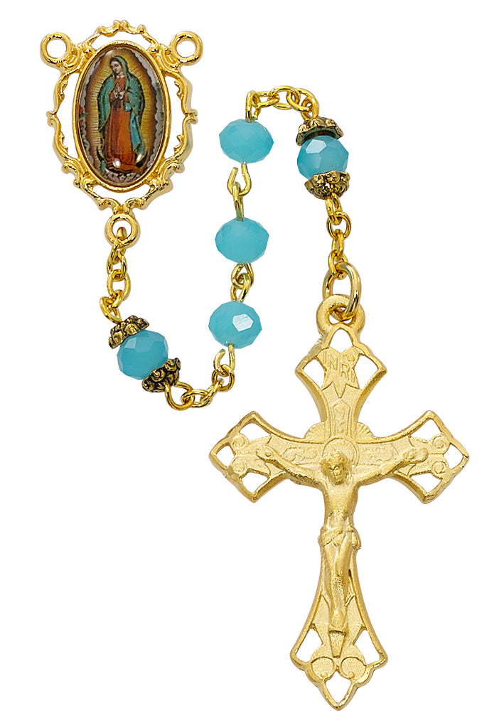 Our Lady of Guadalupe Rosary - AquaBoxed