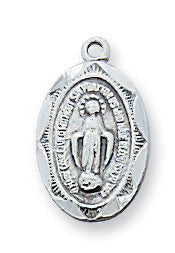 Miraculous Medal - Sterling Baby Pendant Boxed