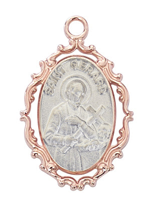 Gerard - St Gerard Medal - Rose-Gold over Sterling