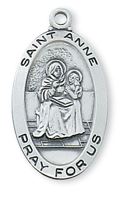 Anne - St. Anne Medal - Sterling Silver