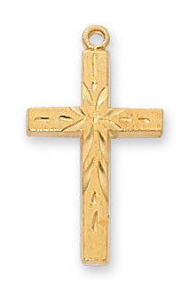 Cross Necklace - Gold over Sterling