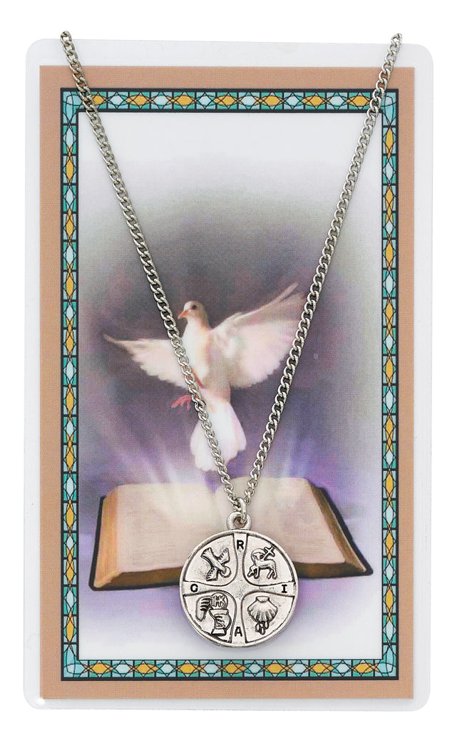 Necklace - RCIA Pendant and Holy Card