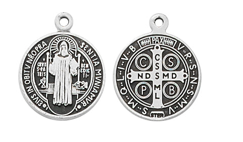 Benedict - St Benedict Medal - Sterling Silver