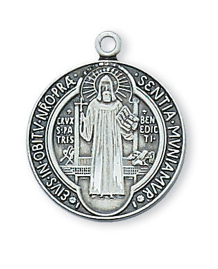 Benedict - St. Benedict Medal Sterling Silver