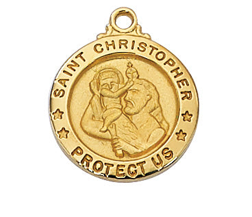 "Christopher - St. Christopher Medal on 18"" Chain"