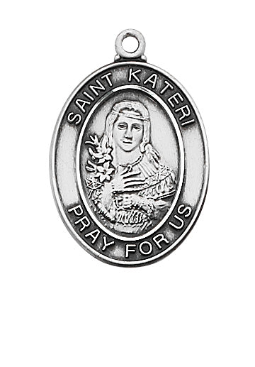 Kateri - St. Kateri Medal Necklace 18""