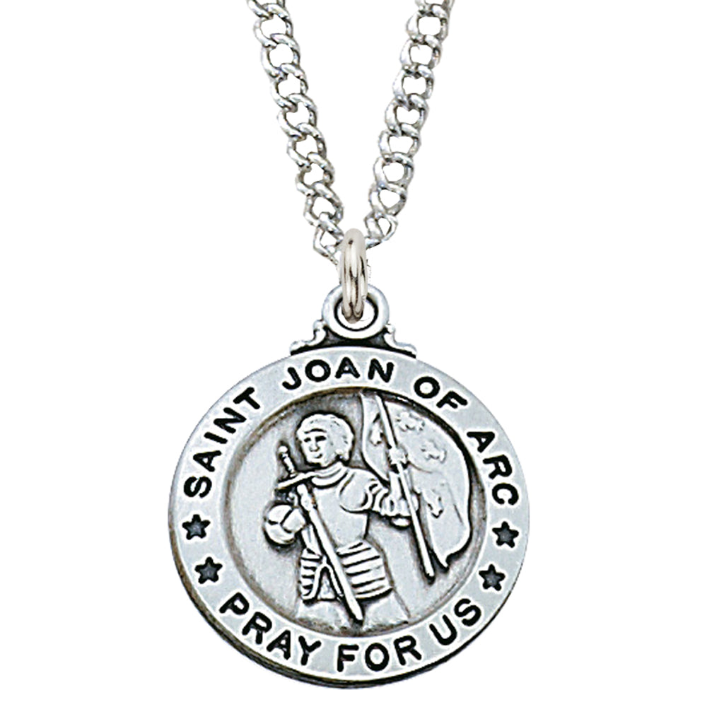 Joan - St. Joan of Arc Medal - Sterling Silver