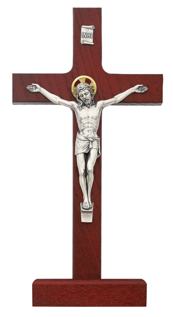 Crucifix - 8 in. Cherry Crucifix Boxed