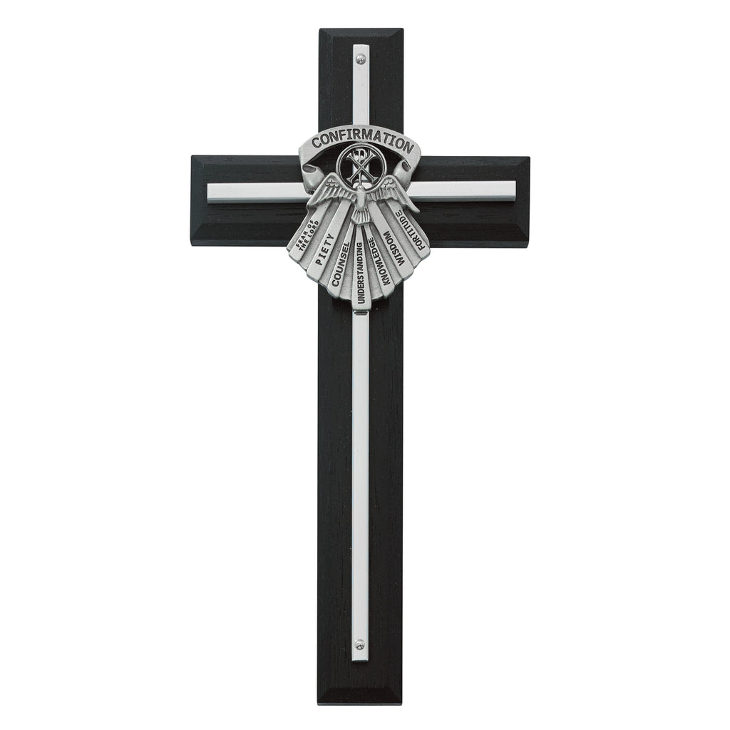Cross 8in Black Wood Gifts of the Spirit Cross Box