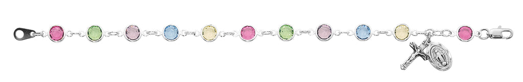Bracelet - 7.5in Multi Crystal Bracelet Boxed