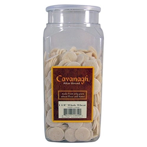 "Hosts - 1 1/8"" White Communion Wafers (1,000 pcs)"