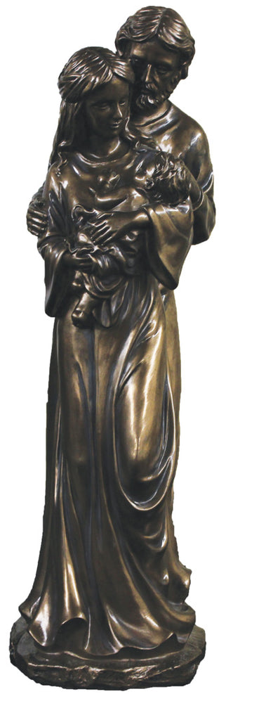 Holy Family Statue Bronze 16""