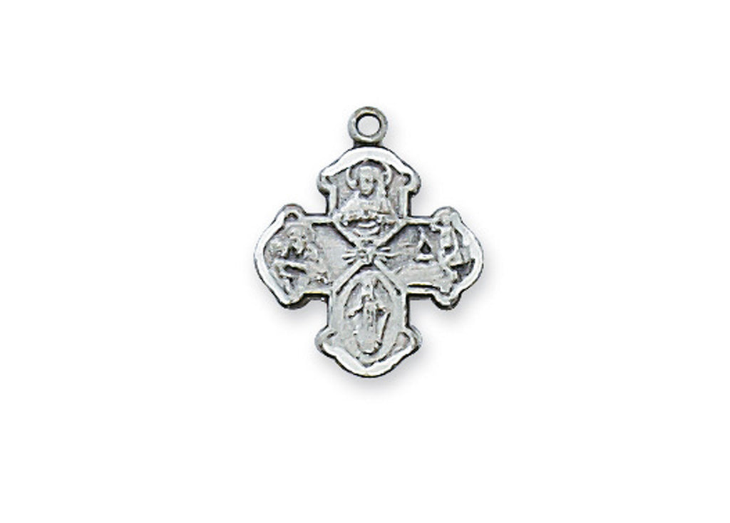 4-way Medal - Sterling Baby Pendant Boxed