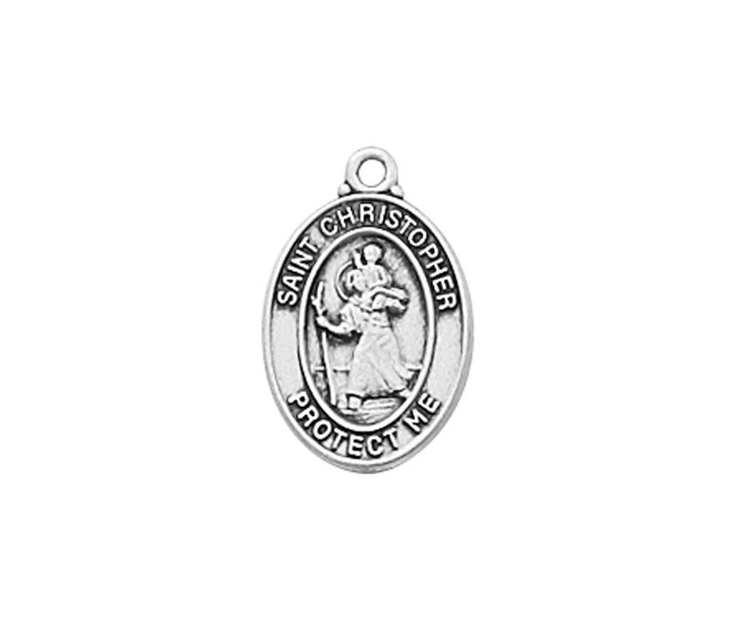 Christopher - St Christopher Sterling Baby Pendant Boxed