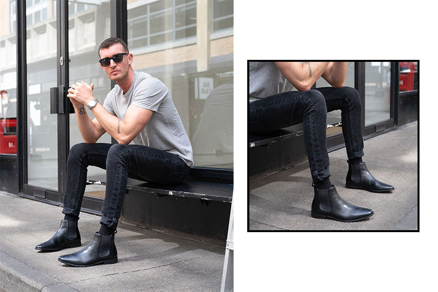 Walk London Alfie Chelsea Boot Worn With An Smart Casual Weekend Outfit