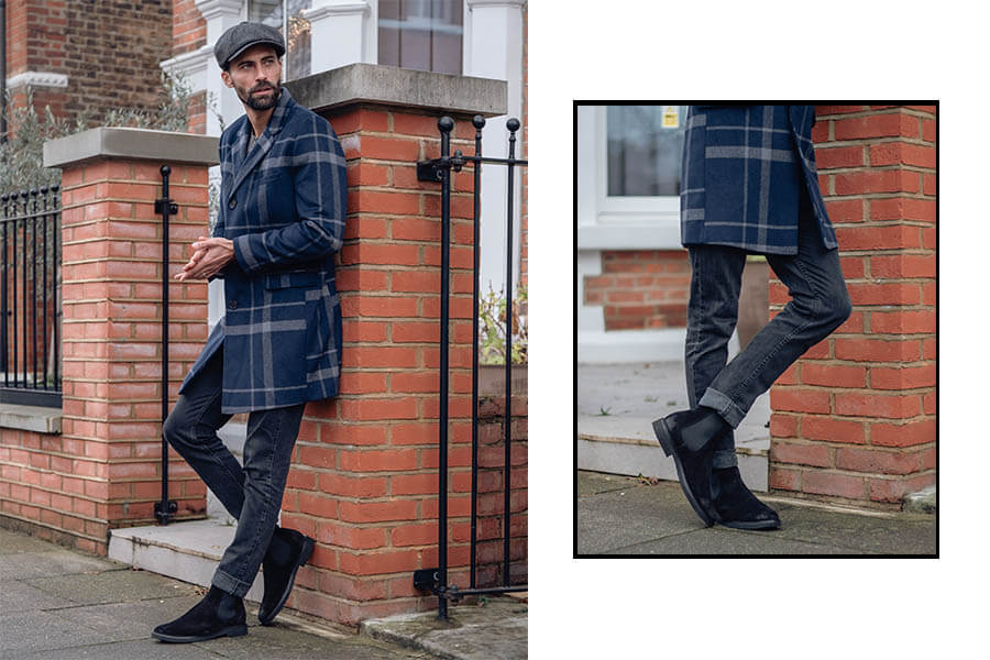 Essential Smart Casual Shoes Walk London Craven Crepe Chelsea boots in black
