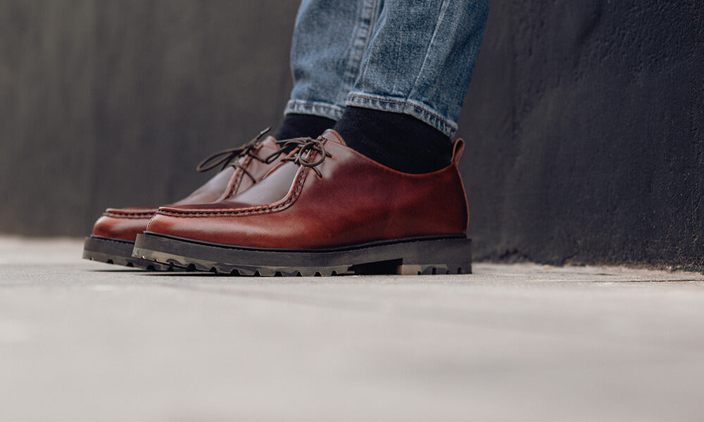 Chunky Sole Derby Shoes