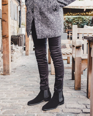 Wearing Chelsea Boots For Smart Casual Occasions - The Walk London Harrington with Black Jeans
