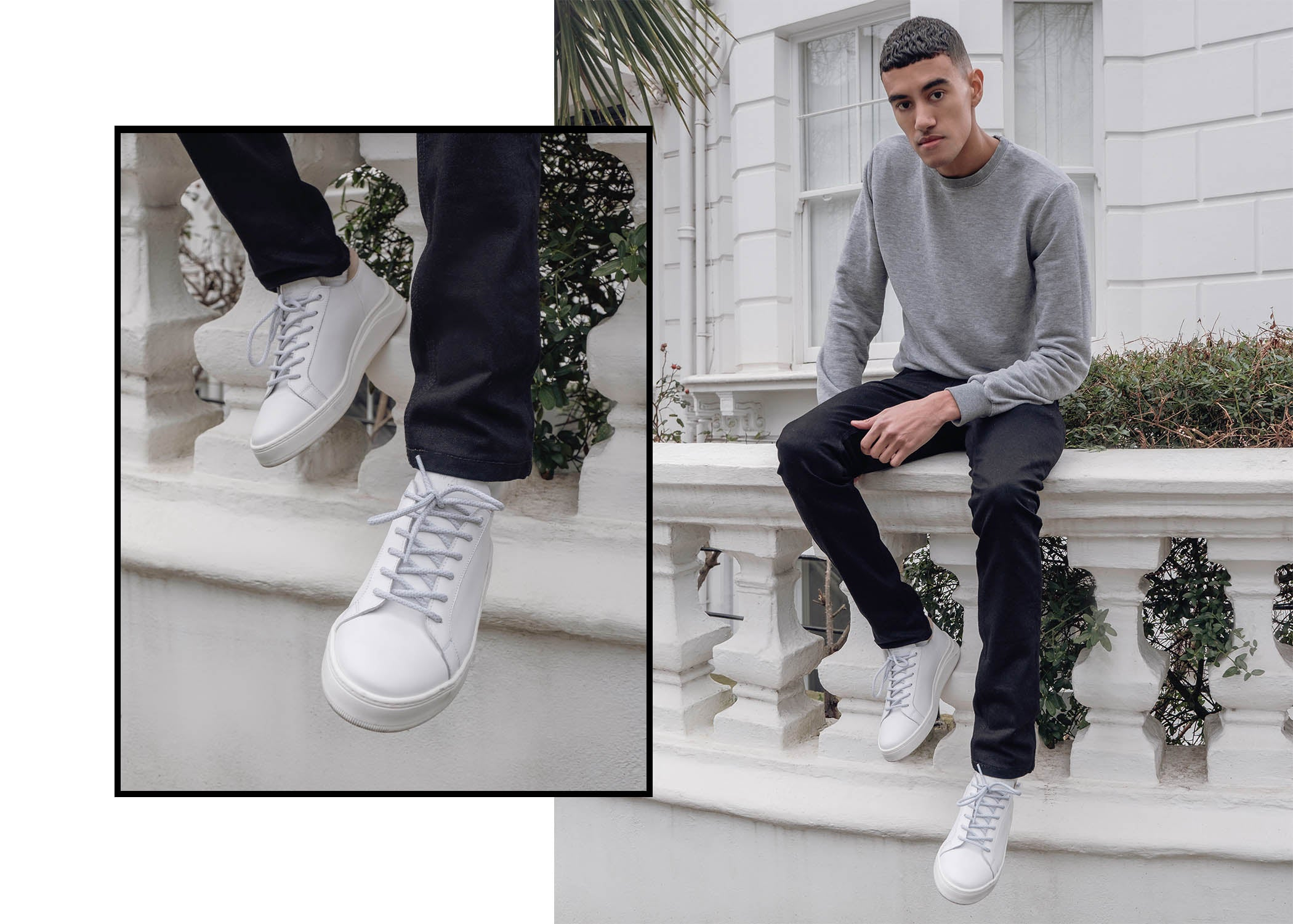 Walk London Kilburn Sneaker - white sneaker