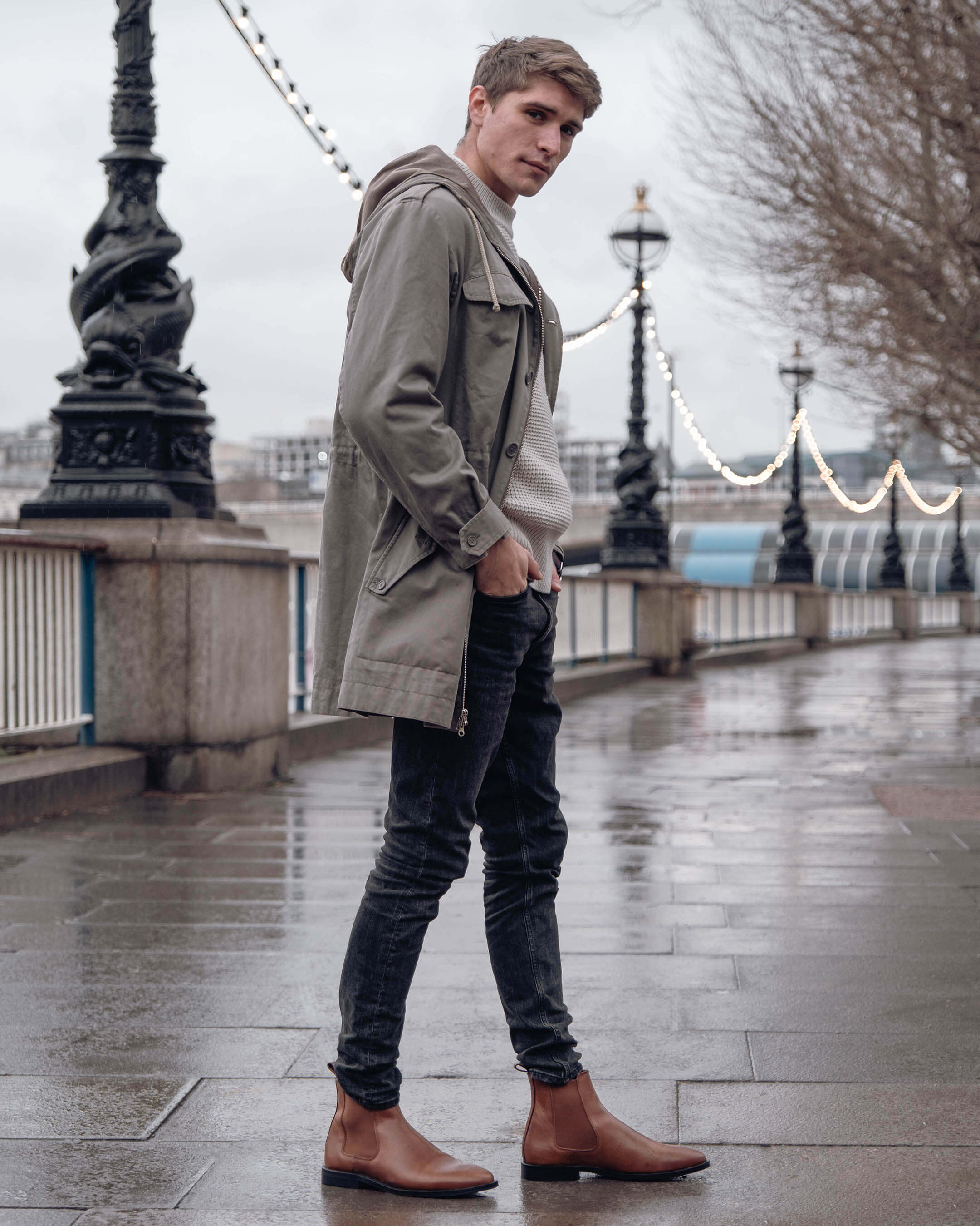 Essential Smart Casual Shoes Walk London Putney Chelsea boot in tan