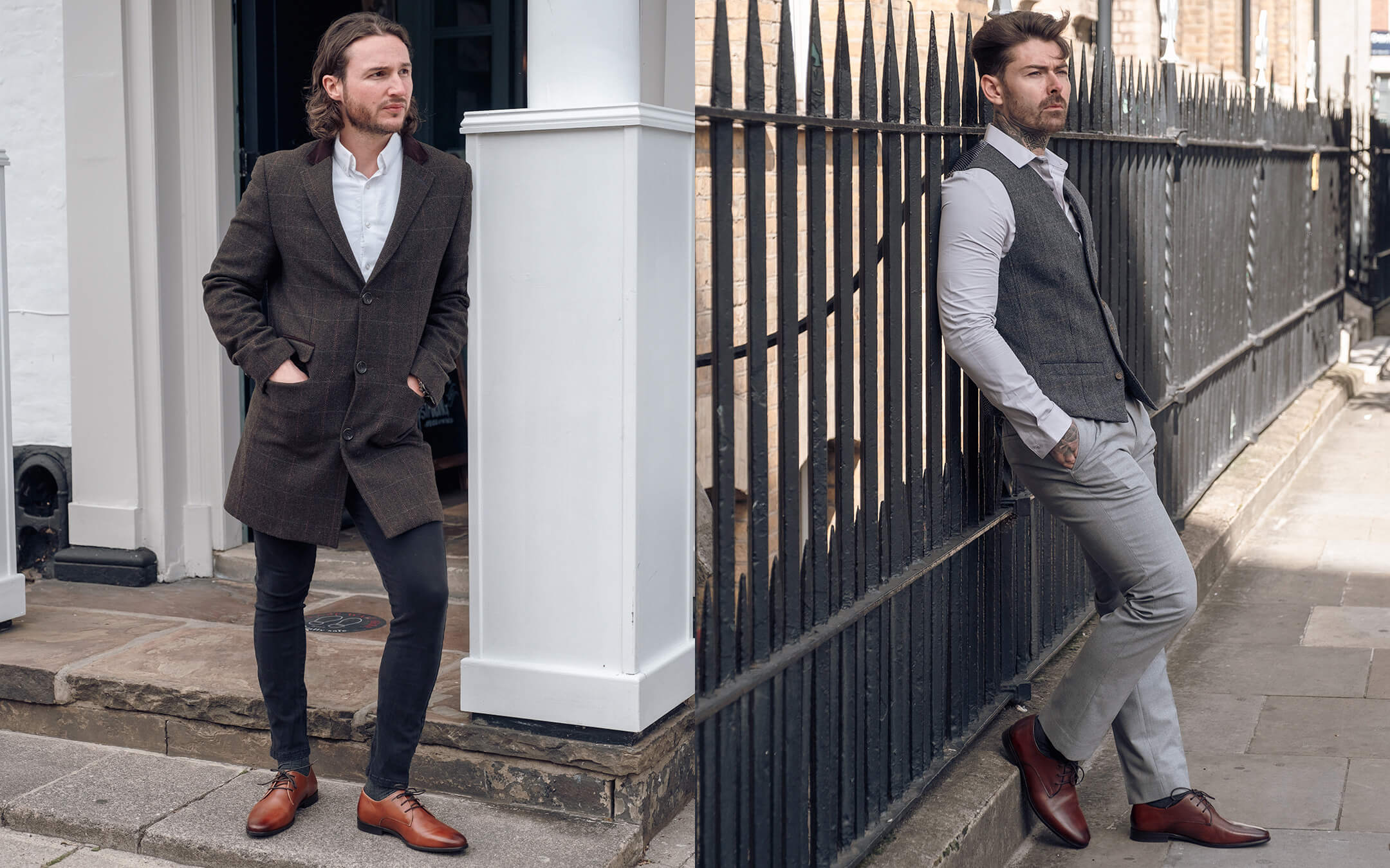 Walk London Mens Derby Shoes in Leather