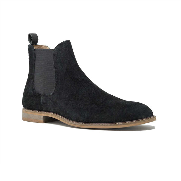 Walk London Carter Chelsea Boot in Black Suede