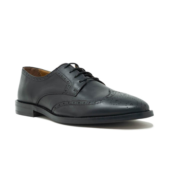 Walk London Putney Brogue Shoe in Black