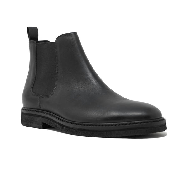 Walk London Slick Chelsea Boot in Black Leather