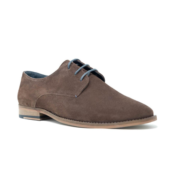 Walk London Tribute Derby Shoe - Brown Suede