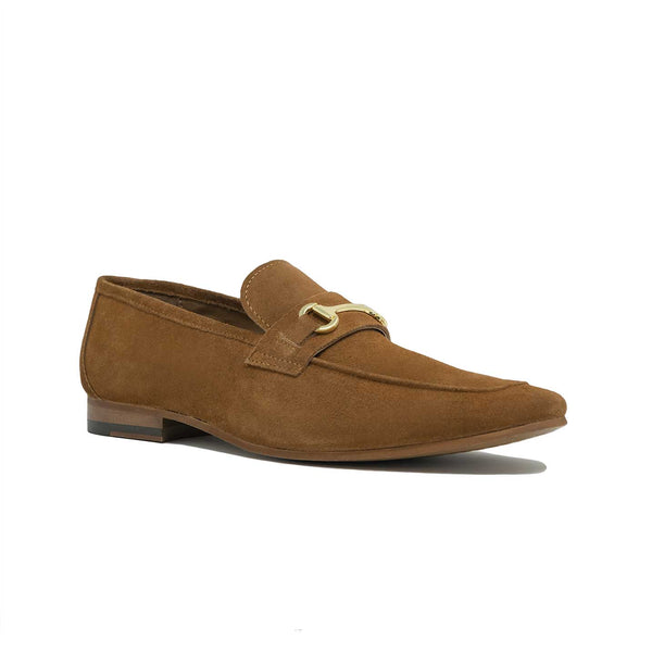 Men;s Tan Suede Trim Loafer