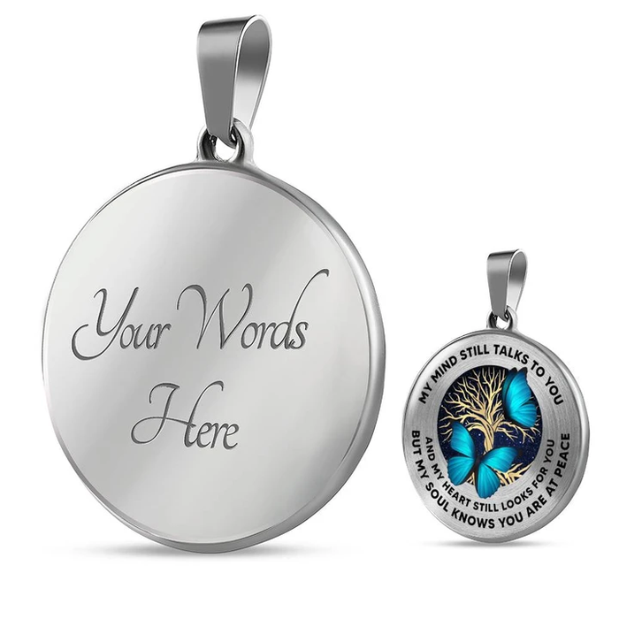 My Mind Still Talks To You Butterfly 02 Luxury Necklace