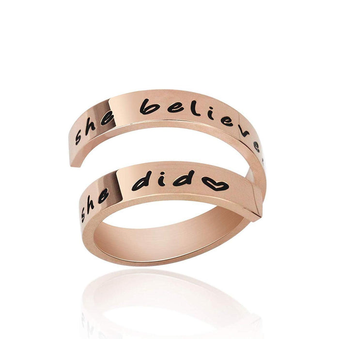 【50%OFF】SHE BELIEVED SHE COULD SO SHE DID RING
