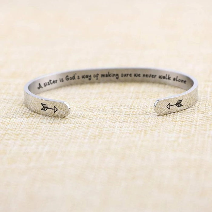 【60%OFF】A SISTER IS GOD'S WAY OF MAKING SURE WE NEVER WALK ALONE
