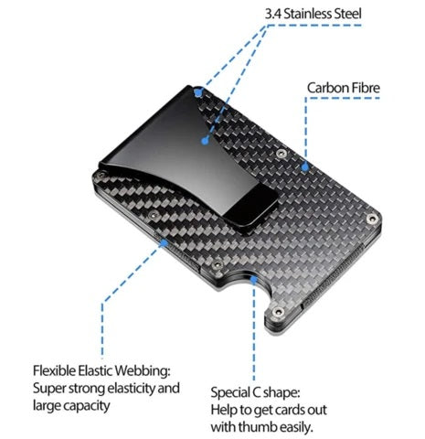 Carbon Fiber Strainless Slim Wallet