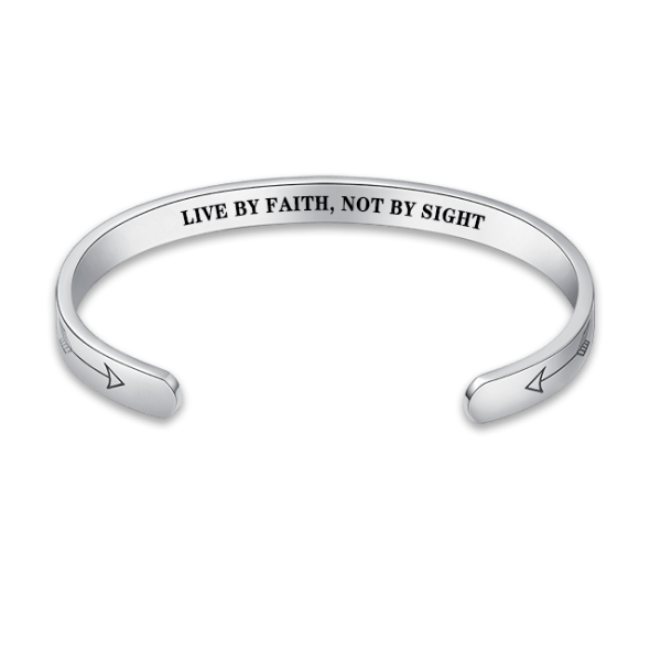 LIVE BY FAITH, NOT BY SIGHT HIDDEN MESSAGE BRACELET