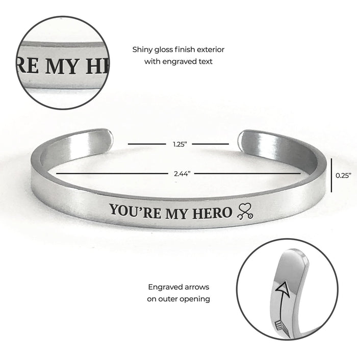 You're My Hero Cuff Bracelet