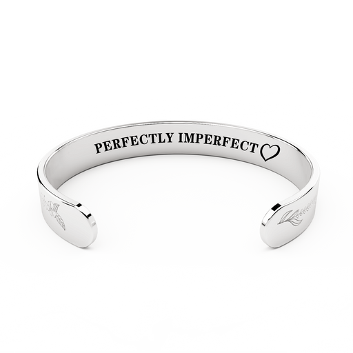 """PERFECTLY IMPERFECT"" SILVER-PLATED BRACELET"