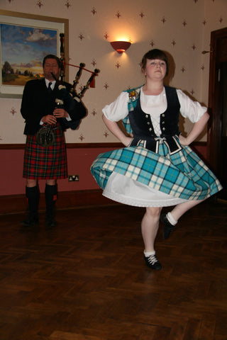 Scottish bagpipe dance