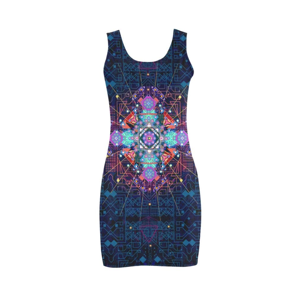 CELESTIAL CIRCUITRY Bodycon Dress Medea Vest Dress (D06) Utopik