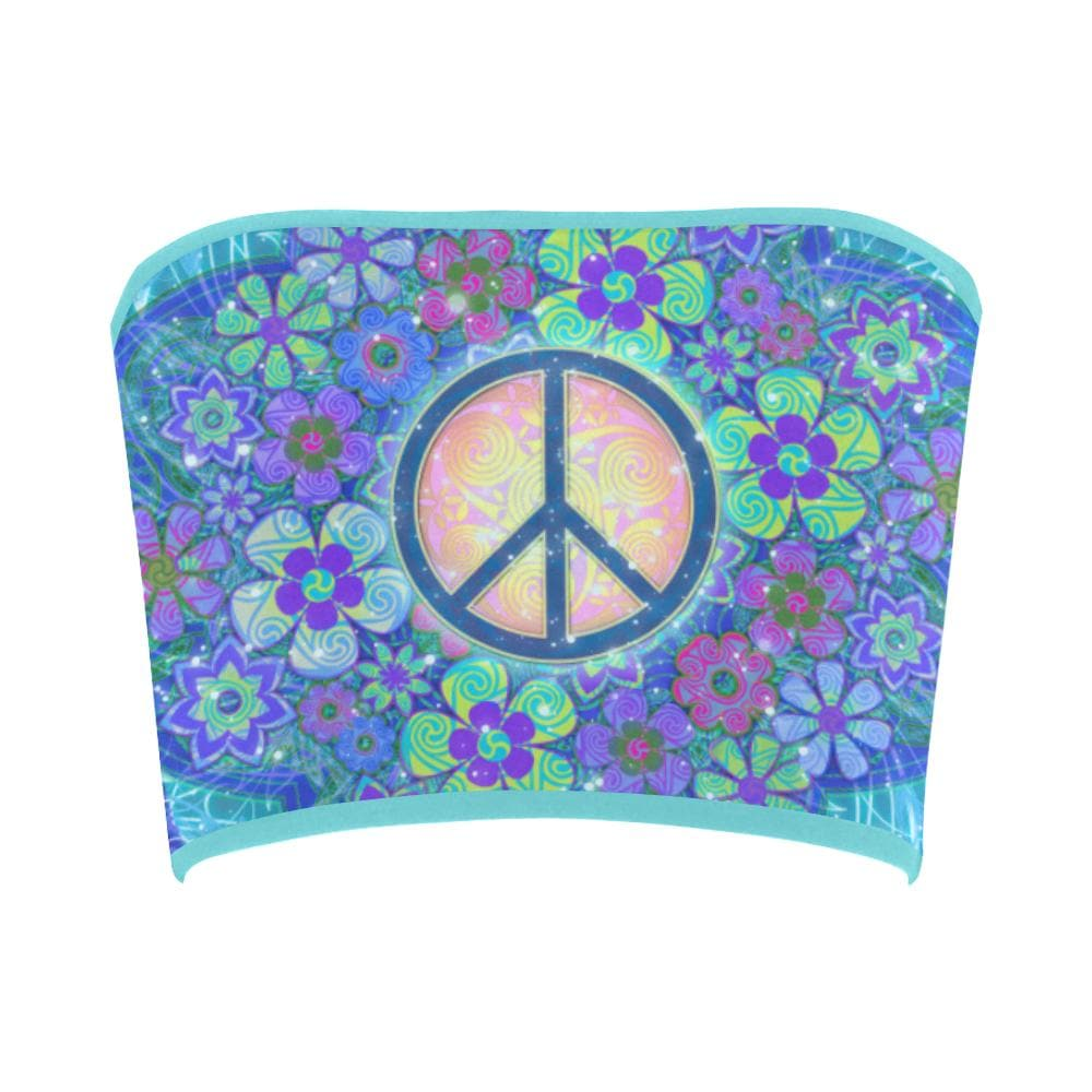 PEACE SIGN BLUE Bandeau Top - Utopik